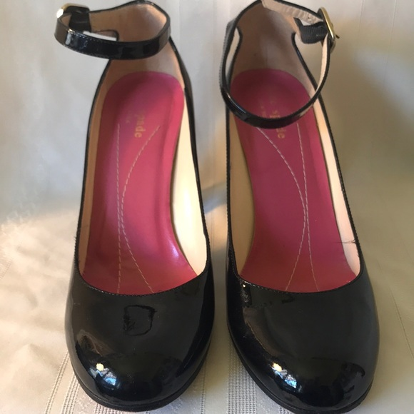 Kate Spade Black Patent Leather Mary Janes